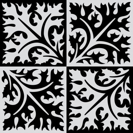 em tons de cinza: Seamless stock vector, uso para fundo de azulejos, em tons de cinza