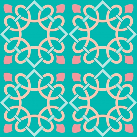 Seamless pattern stock vector, use for tiled background, Colored Stock Vector - 24147406