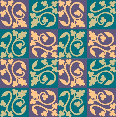 Seamless pattern stock vector, use for tiled background, Colored Stock Vector - 24147410