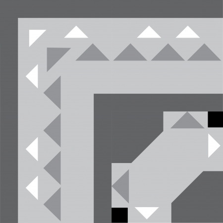 grayscale: Tiled blocks background with frame, in editable vector file, Grayscale  Illustration