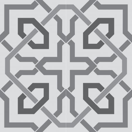 株式ベクトル シームレスな唐草模様グレースケール画像を並べた背景を使用します。  イラスト・ベクター素材