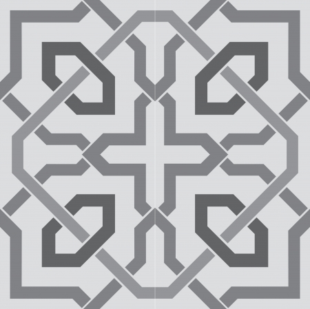 Arabesque seamless pattern, stock vector, use for tiled background, Grayscale 일러스트