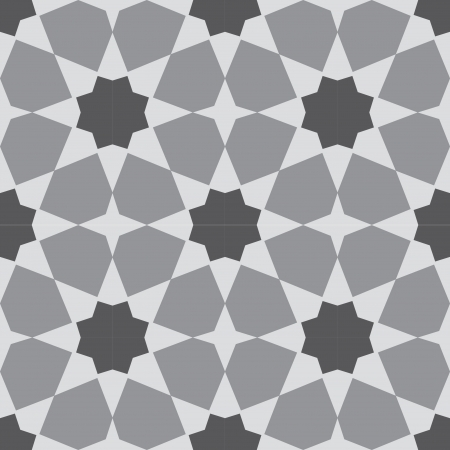 Arabesque seamless pattern, stock vector, use for tiled background, Grayscale Vector