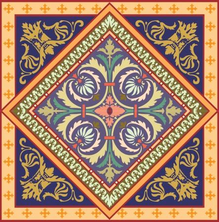 Naadloze patroon stock vector, gebruik voor betegelde achtergrond, Gekleurde