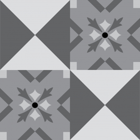 Seamless pattern stock vector, use for tiled background, Grayscale Vector