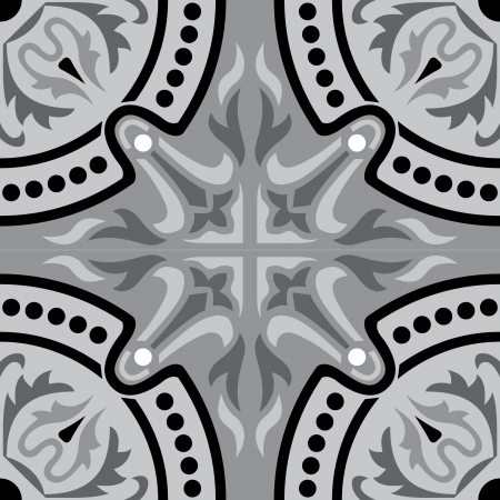 Seamless pattern stock vector, use for tiled background, Grayscale Stock Vector - 24147560