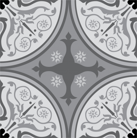 Seamless pattern stock vector, use for tiled background, Grayscale
