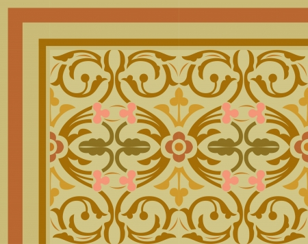 Tiled blocks background with frame, in editable vector file, Colored Stock Vector - 24147626