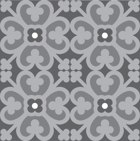 Seamless pattern stock vector, use for tiled background, Grayscale Stock Vector - 24147672