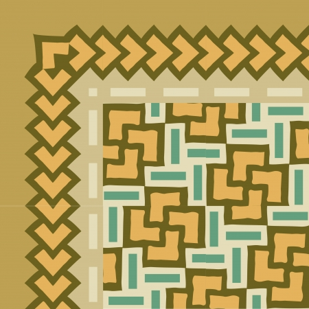 Tiled blocks background with frame, in editable vector file, Colored  Vector