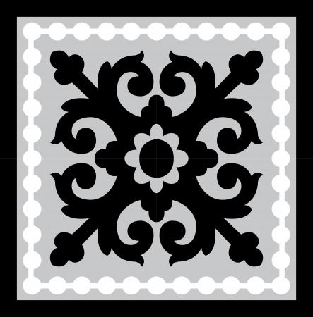シームレス パターン株式ベクトル、グレースケール画像を並べた背景を使用  イラスト・ベクター素材