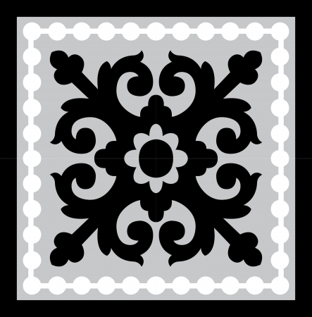 Seamless pattern stock vector, use for tiled background, Grayscale Stock Vector - 24147713