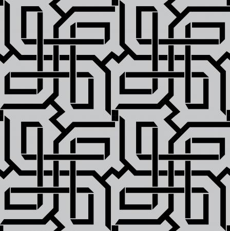 Patrón sin fisuras stock vector, utilizar para el fondo de azulejos, escala de grises Ilustración de vector