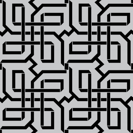 Seamless pattern stock vector, use for tiled background, Grayscale Vetores