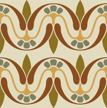 Seamless pattern stock vector, use for tiled background, Colored Stock Vector - 24147732