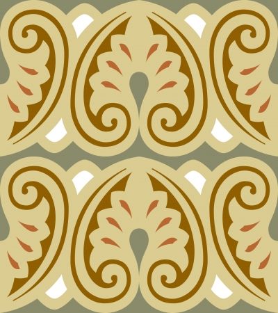Seamless pattern stock vector, use for tiled background, Colored Stock Vector - 24147739