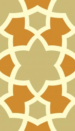 contemporary design: Arabesque tiled blocks, in editable vector file, Colored
