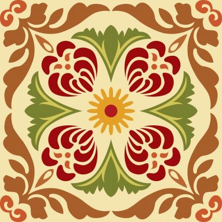 patron islamico: Patr�n sin fisuras stock vector, uso para el fondo de azulejos, de color