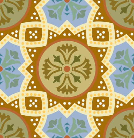Seamless pattern stock vector, use for tiled background, Colored