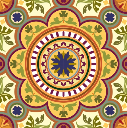 in shape: Seamless pattern stock vector, use for tiled background, Colored