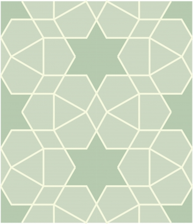 Arabesque seamless pattern, stock vector, use for tiled background, Colored Stock Vector - 24147815