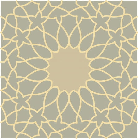 Arabesque seamless pattern, stock vector, use for tiled background, Colored Stock Vector - 24147818
