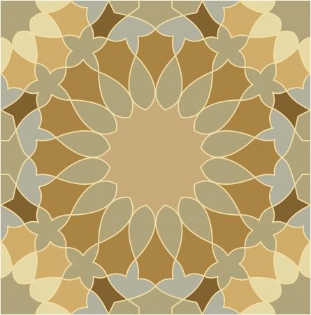Keramik: Arabesque nahtlose Muster, Vektorgrafik, Verwendung f�r gekachelten Hintergrund, Farbiger Illustration