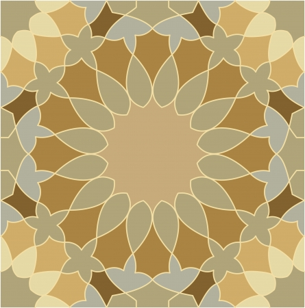 in shape: Arabesque seamless pattern, stock vector, use for tiled background, Colored Illustration