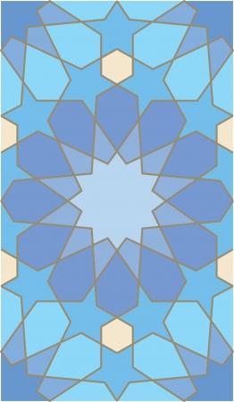 Arabesque naadloze patroon, stock vector, te gebruiken voor betegelde achtergrond, gekleurde