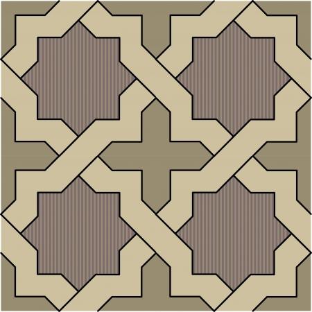 ceramiki: Arabeska bez szwu wzór, Grafika wektorowa, wykorzystanie do tła, kolorowe kafelki