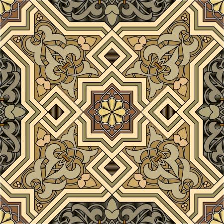 アラベスクのシームレスなパターン、株式ベクトル、タイル張りの背景に使用する色