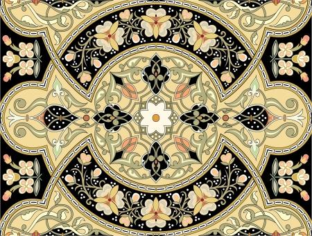 motif geometriques: , Seamless arabesque, stock vector, utiliser pour le fond en mosa�que, color�