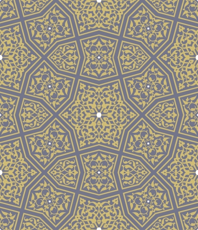 Arabesque seamless pattern, stock vector, use for tiled background, Colored 일러스트