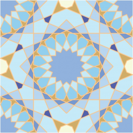 Arabesque seamless pattern, stock vector, use for tiled background, Colored Illustration