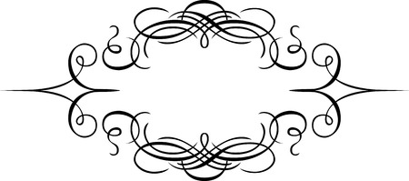 Calligraphic element design, page decoration, Monochrome Vector
