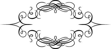Calligraphic element design, page decoration, Monochrome Illustration