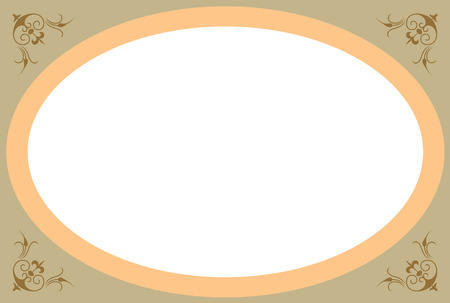 Simple vector frame with decoration corners, Colored Vector
