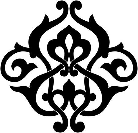 装飾的なデザイン要素、ベクトルファイル、モノクロ