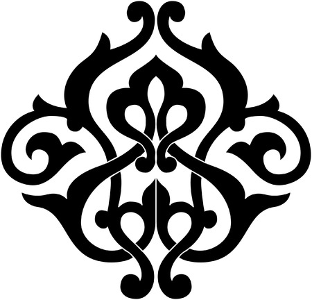 Decorative design element, vector file, Monochrome Illusztráció