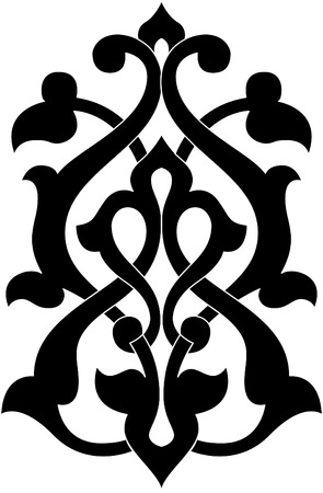 Decorative design element, vector file, Monochrome Illustration