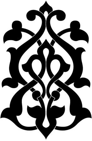 Elemento de diseño decorativo, archivos de vectores, Monocromo