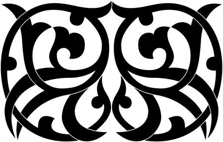 interweaving: Decorative design element, vector file, Monochrome Illustration