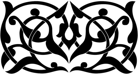 Decorative design element, vector file, Monochrome Vector