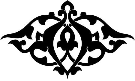 motive: Dekorative Design-Element, Vektor-Datei, Monochrom