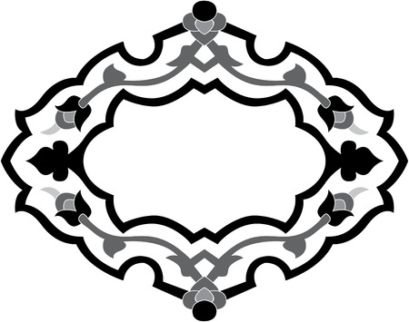 Dekorative Design-Element, Vektor-Datei, Monochrom