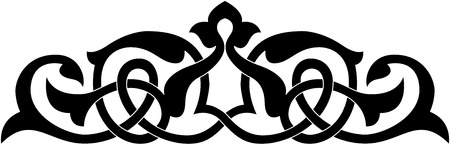 Decorative design element, vector file, Monochrome 일러스트