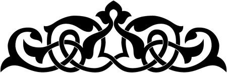 Decoratief element, vector bestand, Monochroom