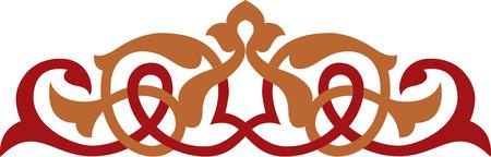 Decoratief element, vector bestand, Gekleurde Stock Illustratie