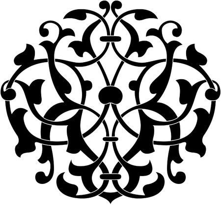 Decorative design element, vector file, Monochrome Illustration