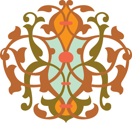 Decorative design element, vector file, Colored